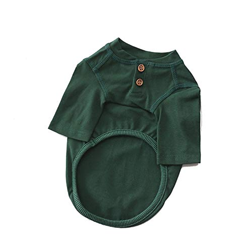 Leisure Cat Pet Clothes Cotton Pets Dogs Clothing for Small Medium Dogs Clothes Summer Pet Dog Costume Chihuahua French Bulldog,Green,S]()