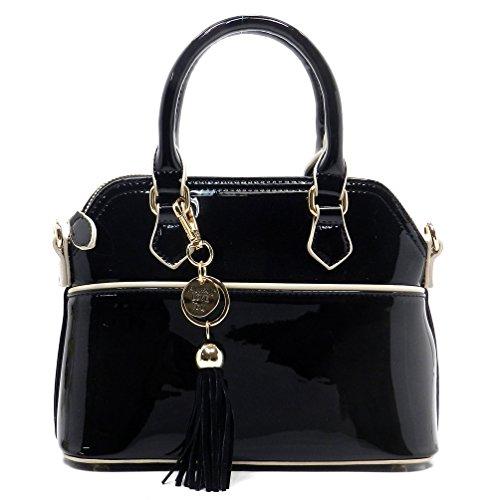 Black Patent Leather Purse: Amazon.com