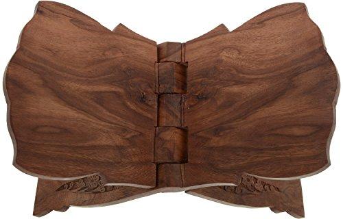 Kapasi Artesanía Madera atril para libro (18cm x 32cm x 37cm), Brown)