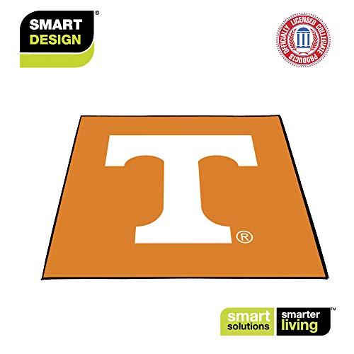 Smart Design Collegiate Tailgate Picnic Mat - 9 x 9 Feet - University of Tennessee Team Design - Officially Licensed Logo - White & Orange Colors - [Tennessee Volunteers]