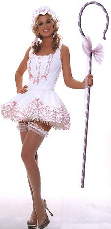 [Sexy Peep - Women's Sexy Lil' Bo Peep Costume Lingerie Outfit] (Bo Peep Costumes Adults)