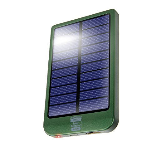 2600mAh Portable Solar Phone Charger and External Battery Pack (Refurbished) w/ 1.5A USB Charging Port by ReVIVE - Works with Samsung Galaxy S8, iPhone 7, HTC One M9, Motorola Droid Turbo, & More