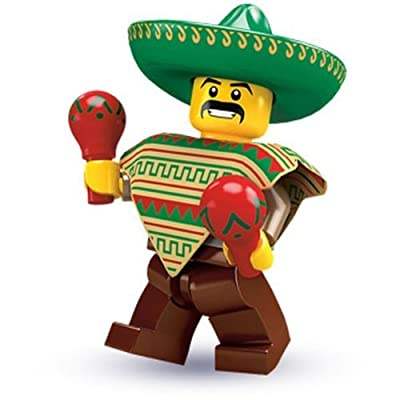 Lego Collectable Minifigures: Mexican Mariachi Maraca Man Minifigure - Series 2 - Bagged: Toys & Games