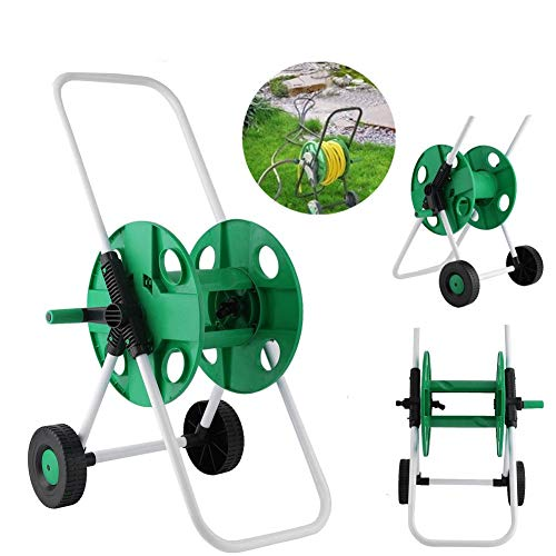 J&T Hose Reel Mobile Rolling Cart Storage Holder Outdoor Garden Water Pipe, 150 ft. by J&T Jordan (Image #1)