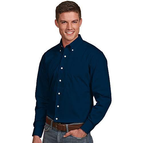Antigua Men's Dynasty Button Down Long Sleeve Woven Dress Shirt L -