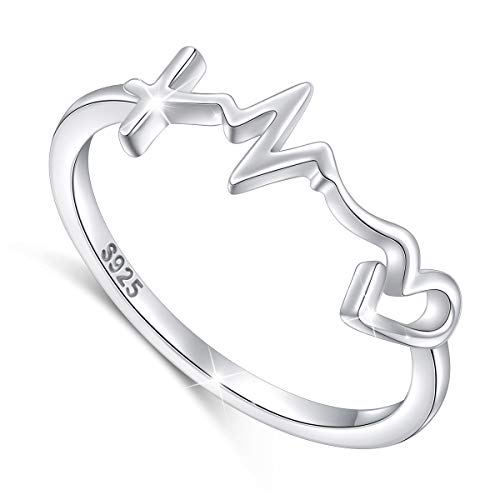 (S925 Sterling Silver Faith Hope Love Cross Lifeline Heart Pendant Necklace Christian Jewelry Gifts for Women Mother's Day Gift (sterling-silver style 1, 10))