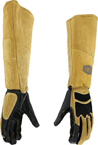 (West Chester IRONCAT 9070 Premium Grain Goatskin and Split Cowhide Leather Stick Welding Gloves: Medium, 1 Pair)
