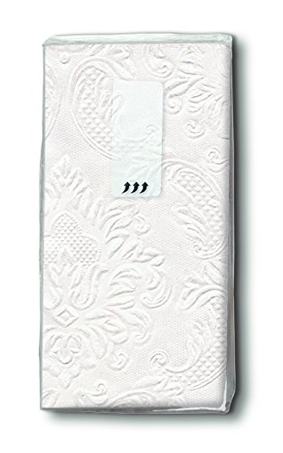 12x10 Taschentücher geprägt Perlmut für die Hochzeit Freudentränen Kirche