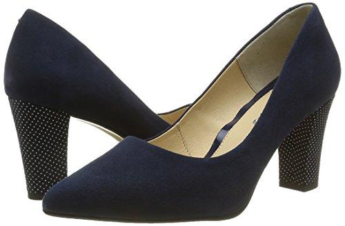 Para Cerrada Con Zapatos 930511 Tacón Azul Punta De Mujer Piazza qnC0T4wW