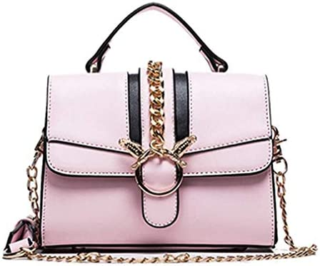 チェーンバッグ、新しいファッションショルダーバッグスモールスクエアバッグ、ワイルドメッセンジャーバッグ、シンプル、ピンク、20 * 15 * 8 Cm 美しいファッション