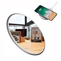 YOREN Wireless Charger Portable Charger for iPhone X iPhone 8/8 Plus, Fast Qi Wireless Charging Station for Samsung Galaxy S9 S8/S8 Plus,S7/S7 Edge,Note 8 [Mirror][UltraSlim]