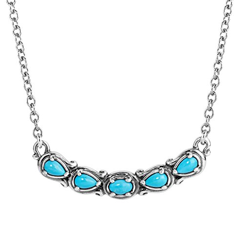 Carolyn Pollack SterlingSilver & Five Stone Turquoise 16 Inch - 18 Inch Necklace ()