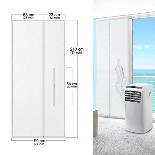 (SAQIMA 90x210CM Mobile Air Conditioner Soft Cloth Sealing Baffle Portable Air Conditioner and Dryer Door Seal Works with All Mobile Air Conditioning Units)