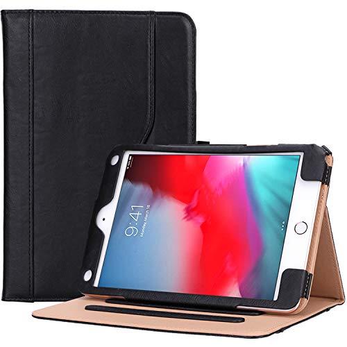 ProCase iPad Mini 5 Case 2019/ iPad Mini 4 Case 2015, Vintage Stand Folio Case Smart Cover for 7.9 Inch Apple iPad Mini 5th Generation 2019/ iPad Mini 4, with Auto Sleep/Wake -Black