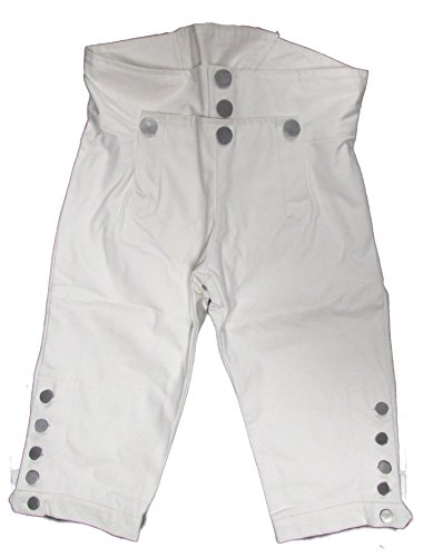 Military Uniform Supply Reproduction Revolutionary War Era Breeches - White - 36