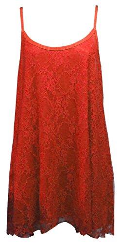 21fashion sin mangas Camiseta Rojo para mujer qrxfqwpvS