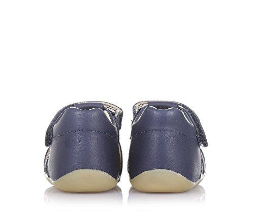 BOBUX - Chaussure Step Up Jump bleue en cuir trasnspirant, extrêmement flexible, bébé garçon