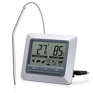 Topop Barbecue Grill Thermometer und Digital Zeitmesser mit großem...