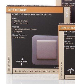 MSC1066EP - Optifoam Adhesive Dressings,6X6