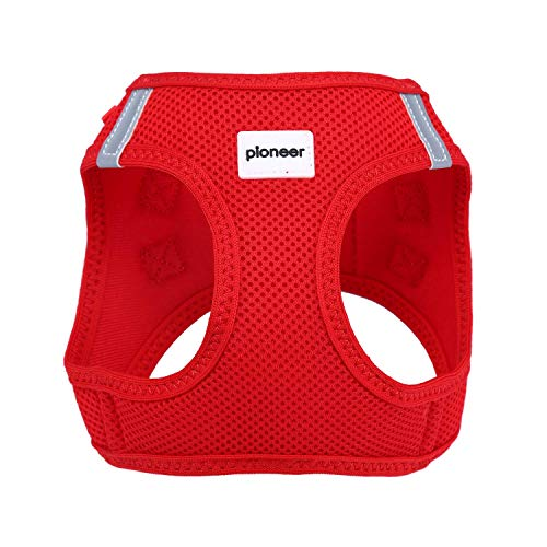 Escape Proof Breathable Kitten Puppy Cat Harness Reflective Walking Comfort Soft Mesh Small Dog Pet Padded Vest (X-Small, Red)