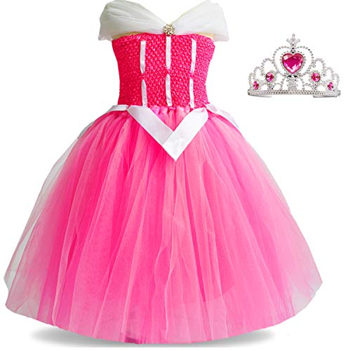 Aurora Costume Sleeping Beauty Toddler Girls Tutu Dress Up Halloween