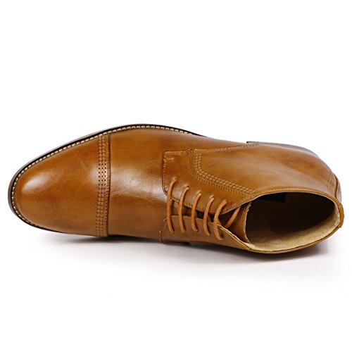 MC115 Dress Ankle Tan Cap up Chukka Metrocharm Men's Lace Toe Boots gdqfqSw