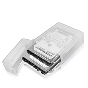 ICY BOX IB-AC622 Messenger case Transparente - Caja (Messenger case, De plástico, Transparente, 350 mm, 300 mm, 250 mm)