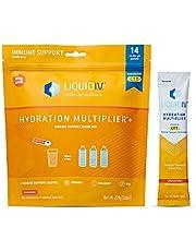 Liquid I.V. Hydration Multiplier + Immune Support, Easy Open Packets, Natural Tangerine Flavor