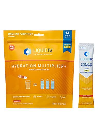 Liquid I.V. Hydration Multiplier + Immune Support, Easy Open Packets, Natural Tangerine Flavor (14 Count)