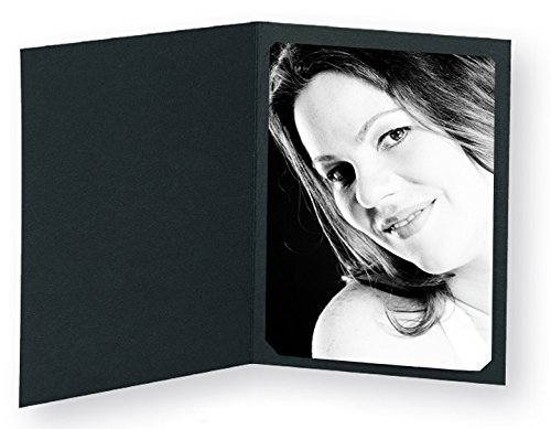Black Photo Folder for 5x7/4x6 (Pack of 100) Cut corners, by Eventprinters