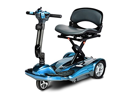 EV Rider Transport AF-Auto Folding Scooter with Free Front Tiller Bag -Blue ()