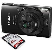 Canon PowerShot ELPH 190 IS Digital Camera (Black) w/ 32GB SD Card