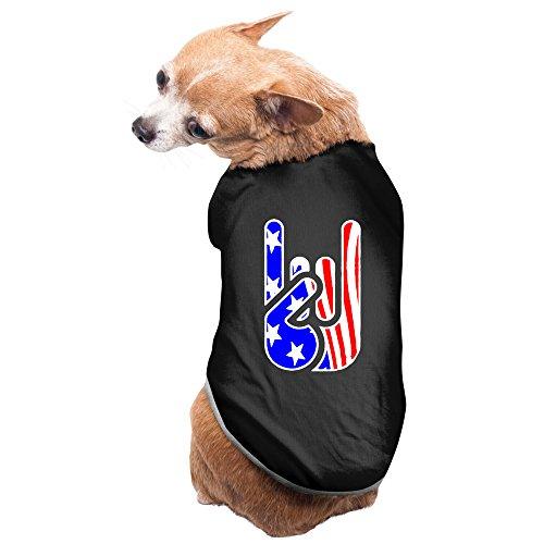 [Rockin' USA Devil Horns Lovely Design Pet Dog Costumes Black] (80s Rock N Roll Costumes)