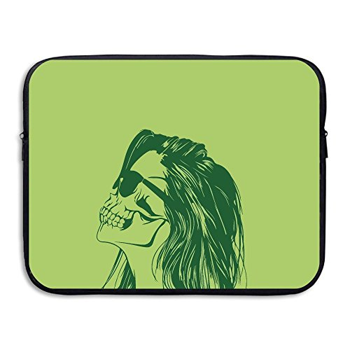 Skeleton Woman With Sunglasses Laptop Sleeve Case Bag Cover For 13-15 Inch Notebook - Strap Sunglass Monogrammed