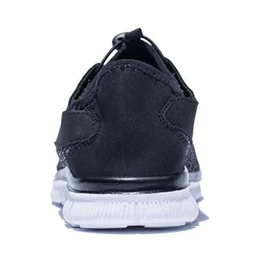 KENSBUY Men's Walking Sneakers Lightweight Mesh Lace Up Shoes(Black EU41) by KENSBUY (Image #5)