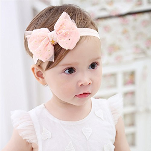 Cute Headband Accessories, 5Pcs Lovely Baby Girls Flower Headbands Photography Props by Wemi (Image #4)