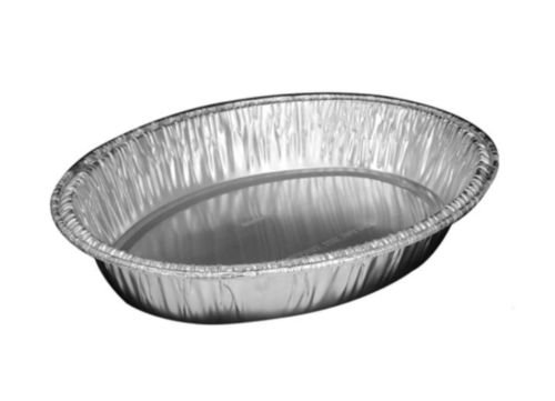 Handi-Foil 15'' x 10'' x 3'' Oval Chicken Casserole Roaster Pan w/Dome Lid (pack of 25)
