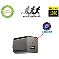 Dewhel Security Charger Camera Wireless USB Wall Charger Adapter Cam With Motion Detection Phone Charger Camera Nanny Camera Mini Video Recorder For Home Office Surveillance