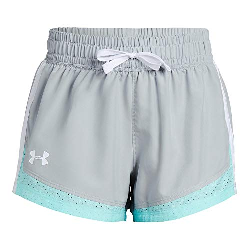 Under Armour Sprint Shorts, Mod Gray//White, Youth X-Large