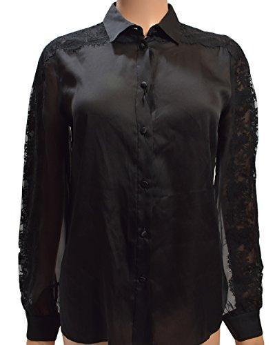 - Dolce & Gabbana Black Silk Blouse 40