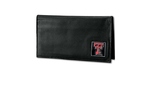 NCAA Siskiyou Sports Fan Shop Texas Tech Red Raiders Deluxe Leather Checkbook Cover One Size Black