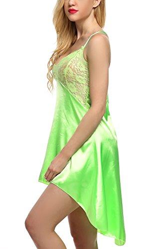 Avidlove Women Lingeire Satin Nightshirts Lace Chemises Irregular Outfits cda628486