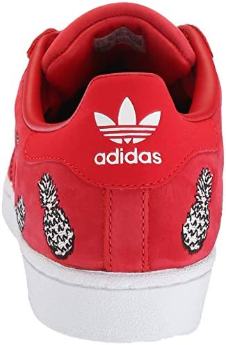 adidas Originals Women's Superstar Shoes Running Scarlet/White, 5 M US