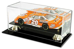 BCW Deluxe Acrylic 1:24 Scale Car Display - With Mirror - Die Cast NASCAR, Racing - Sports Memoriablia Display Case - Sportscards Collecting - Mirror Display Car Scale