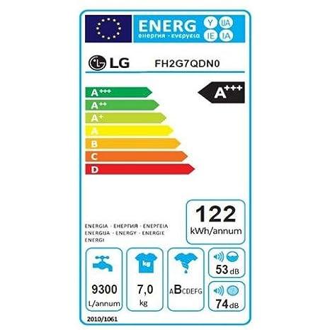 LG Lavadora fh2g7qdn0 7 kg clase A + + + -30% Licuadora 1200 rpm ...