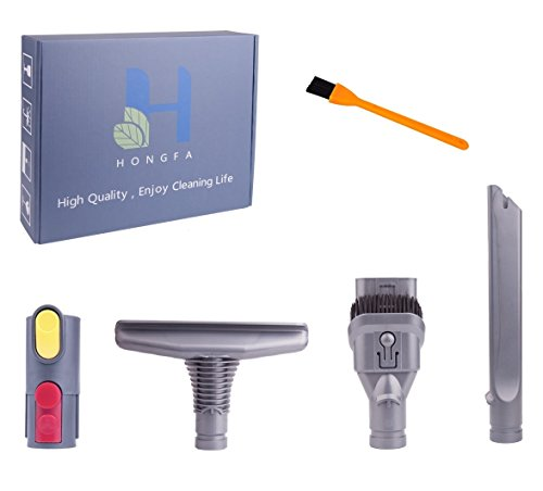 Hongfa V8 Vacuum Brush Head Accessory Replacements for Dyson V10 V8 Absolute V8 Animal V6 Absolute V7 Motorhead Cord-Free 3pcs Brush & Adapter Converter & Cleaning Brush by Hongfa