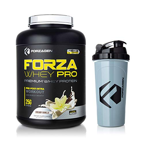 Forzagen Protein Powder 5lb – Best Whey Protein Weight Gainer Increase Muscle Mass Meal Replacement Shakes Low Carb Protein Powder Pre Workout and Post Workout Free Protein Shaker Bottle