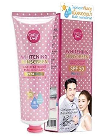 Cathy-Doll-Karmart-Whitening Sunscreen L-Glutathione Magic Cream Pore Tightening-SPF-50 PA+++, Size 60ml.