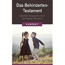 das behindertentestament optimale vorsorge fr einen behinderten menschen german edition - Behindertentestament Muster