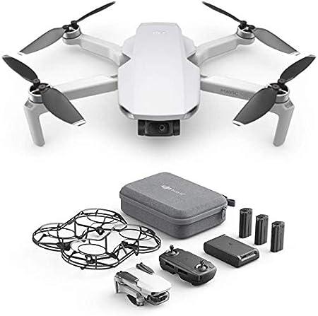 DJI Mavic Mini Combo - Dron Ultraligero y Portátil, Sin Care Refresh, Duración Batería 30 Minutos, Sin Tarjeta, Distancia Transmisión 2 Km, Gimbal 3 ...